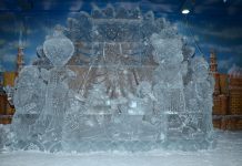 First Ever 'Ice Idol of Goddess Durga'