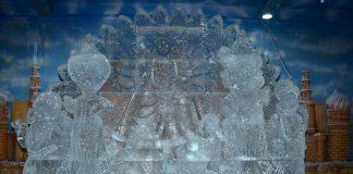 First Ever 'Ice Idol of Goddess Durga'